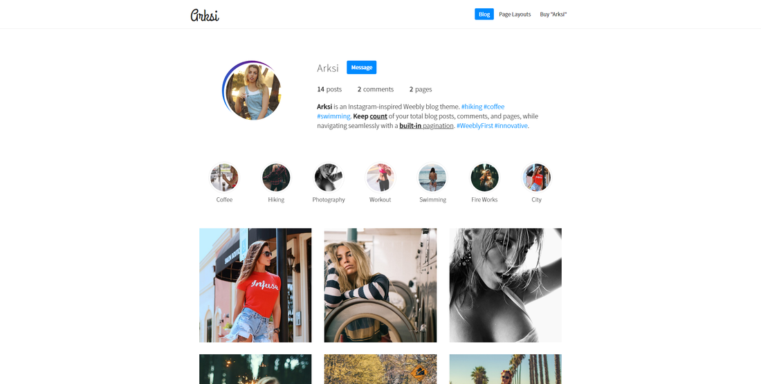 Arksi Weebly Blog Theme