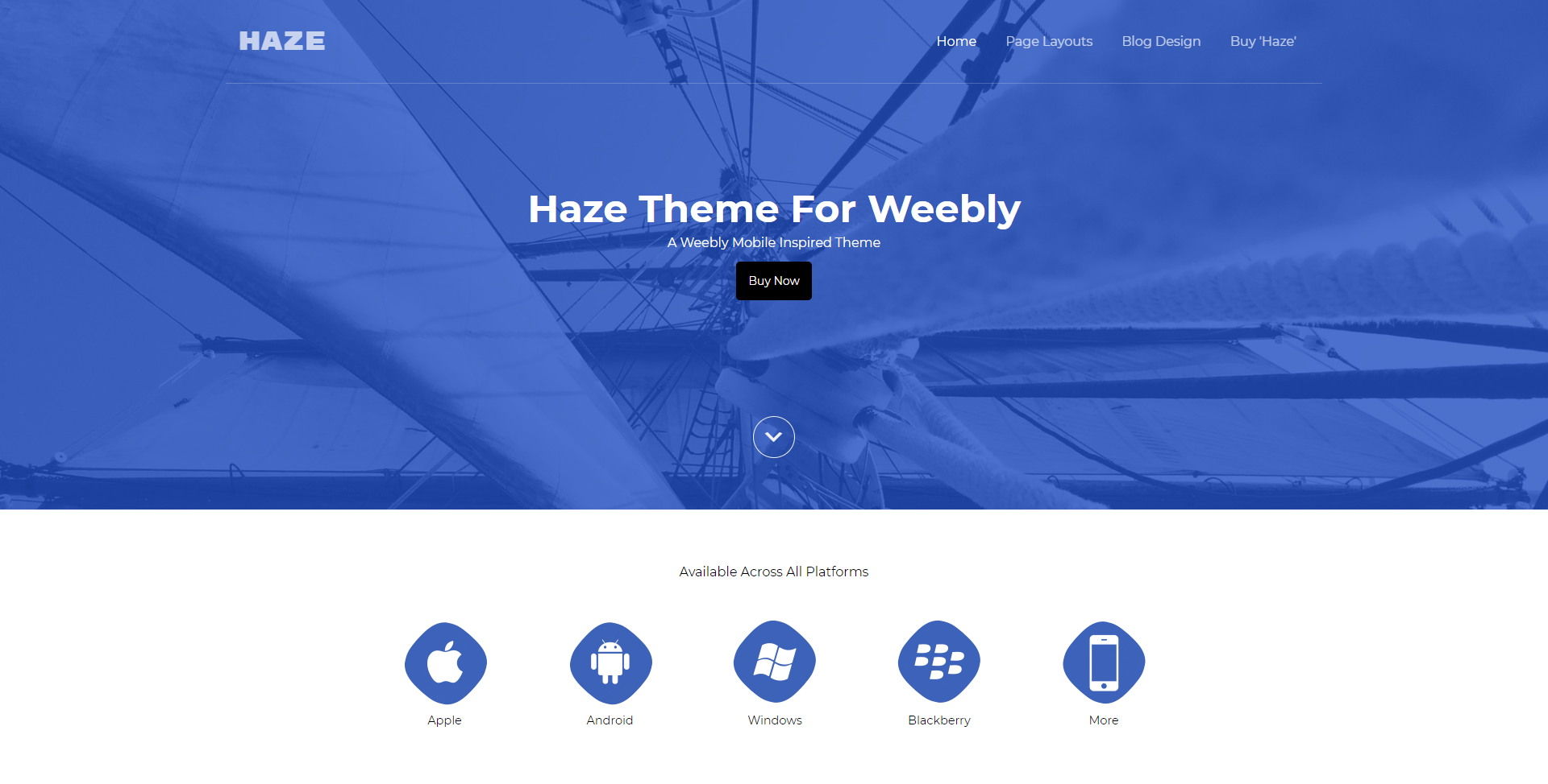 Haze Weebly Business Theme
