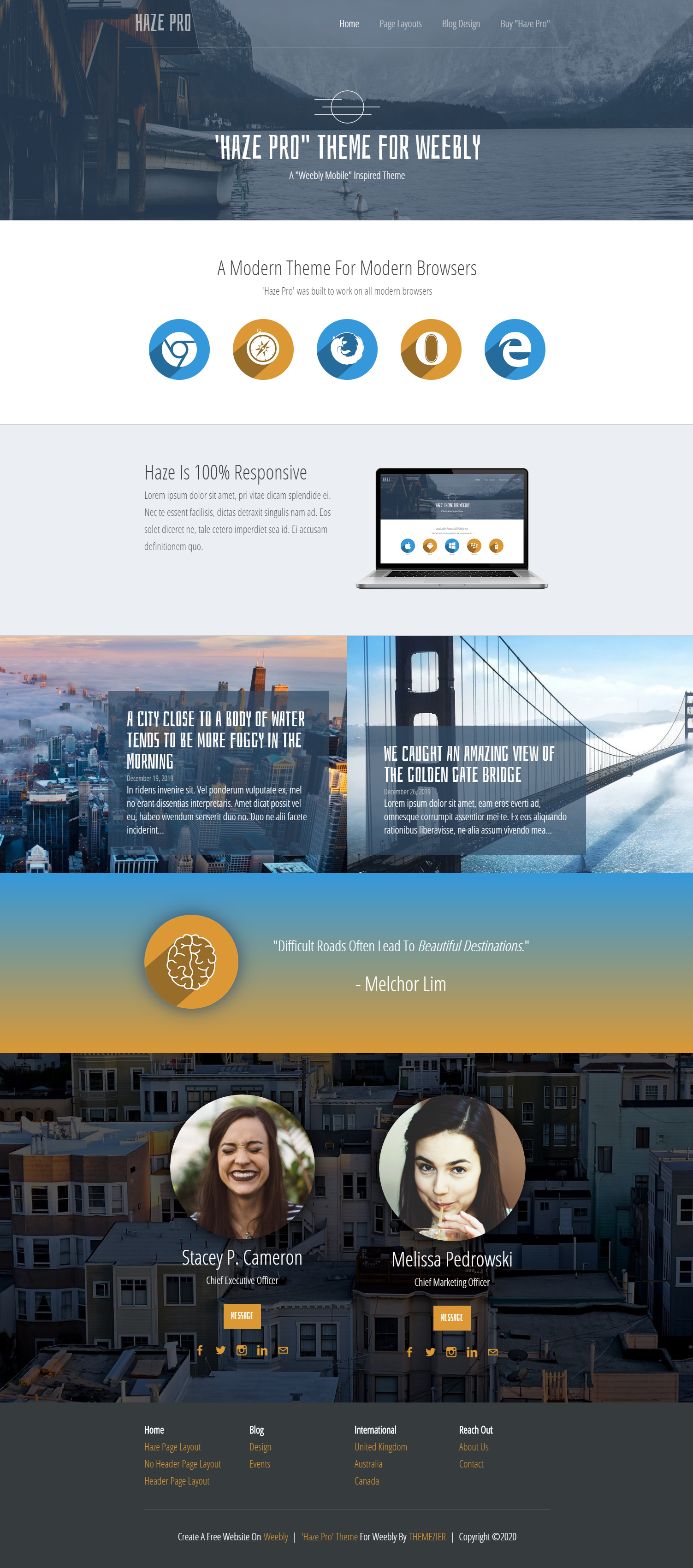 Haze Pro Weebly Business Theme