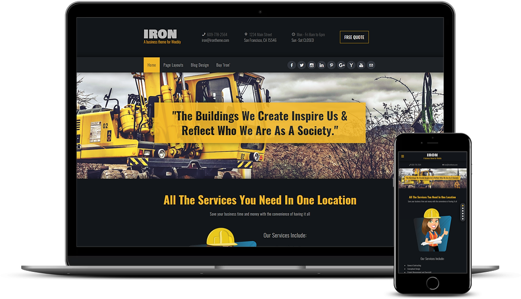 Iron Weebly Business Theme