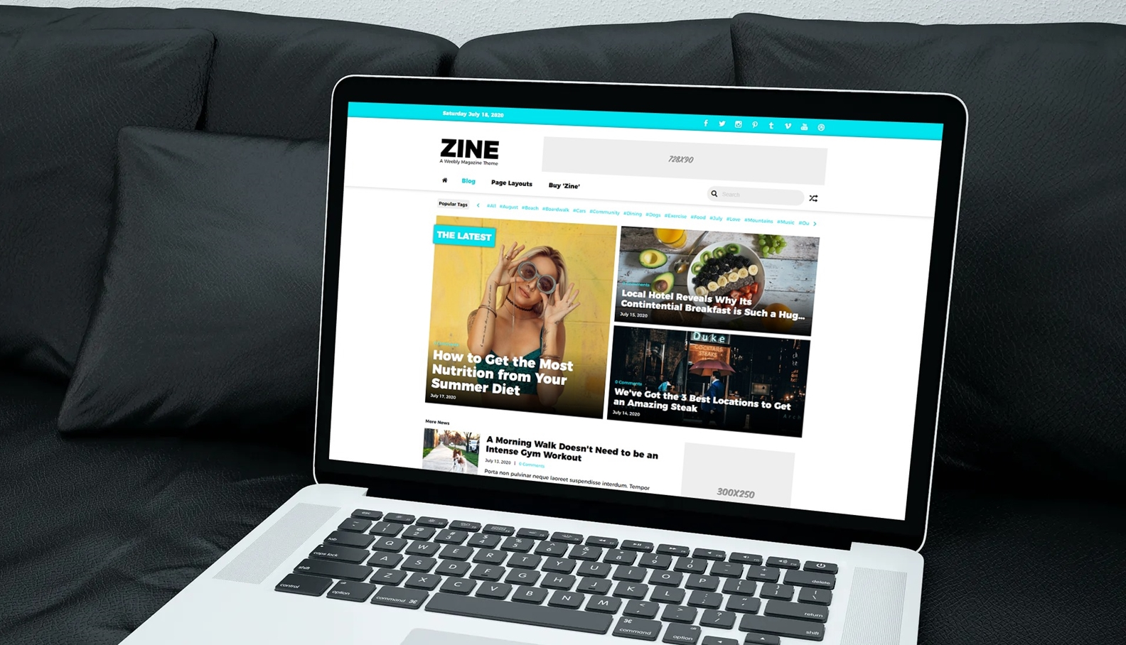 Zine Weebly Magazine Theme Accent Color